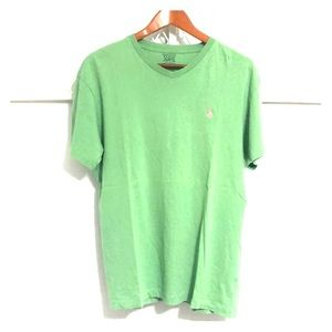 POLO RALPH LAUREN Short Sleeve V-Neck Tee Green